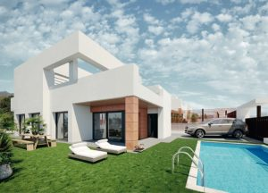 """Sunrise Bay Finestrat"", New construction villa overlooking the skyline of Benidorm"