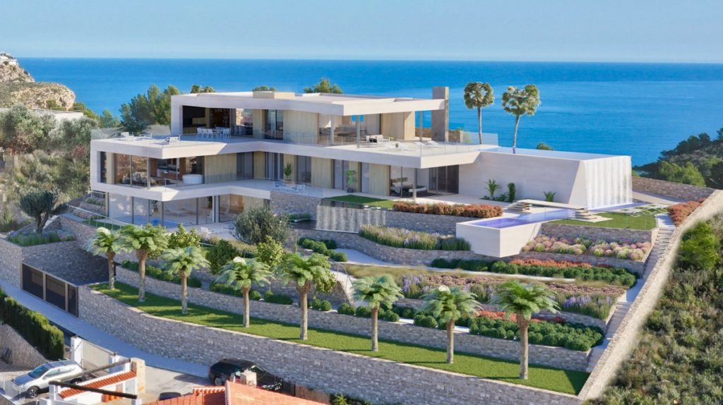 Villa Felicitas, Modern new build villa in Portet Moraira with sea views
